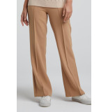 YAYA 1201197-021 relaxed trousers with wide legs and pintucks