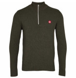 Kronstadt Liam half zip trui recycle cotton ks3123 army -