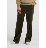 YAYA 1209208-024 velvet stretch relaxed trousers with wide legs