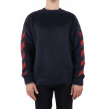 Off White Diag brushed mohair crewenck