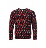 Looxs Revolution Viscose crêpe blouse zwart voor meisjes in de kleur