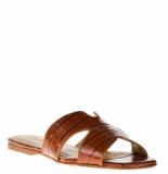 Tube Dames slippers cognac