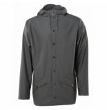 Rains Regenjas jacket charcoal