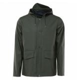 Rains Regenjas short hooded coat green