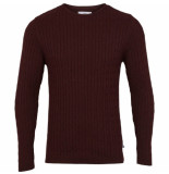Kronstadt Cable 50075 bordeaux crewneck trui -