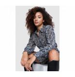 Alix The Label 209979879 ladies knitted zebra lurex blouse
