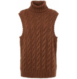 Y.A.S Canna knit vest ca rust