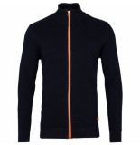 Kronstadt Erik zip vest cardigan 50004 navy/orange -