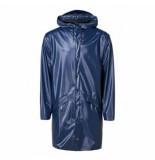Rains Regenjas long jacket shiny blue