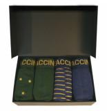 Zaccini heren boxershorts giftbox 4 pack blauw groen