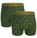 Zaccini heren boxershorts 2 pack groen geel