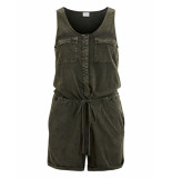 Vila Playsuit though lover dark army groen