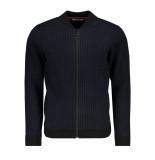 No Excess 97210913 black 020 vest cardigan pied de poule no-excess