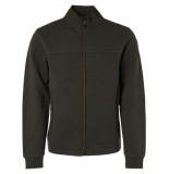 No Excess 97100817 zip vest cardigan dark green 052 no-excess