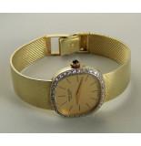 Christian Horloge met diamanten