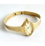Christian Gouden prisma horloge