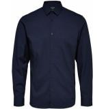 Selected Homme Heren overhemd poplin stretch blazer slim fit