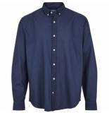 Kronstadt Johan oxford dyed overhemd blauw slim fit