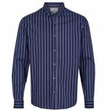 Kronstadt Overhemd johan strepen lichtblauw slim fit