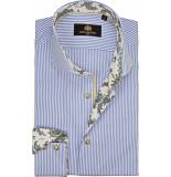 Circle of Gentlemen Overhemd bodey streep print contrast slim fit
