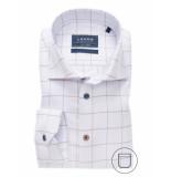Ledûb Ledûb heren overhemd midden square twill widespread modern fit