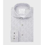 Michaelis Overhemd sprinkle print poplin cutway slim fit