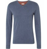 Tom Tailor Heren trui indigo v-neck regular fit