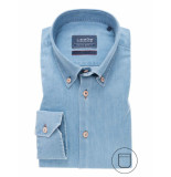 Ledûb Ledûb heren overhemd denim button down modern fit