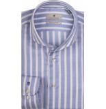Thomas Maine Heren overhemd linnen gestreept cutaway