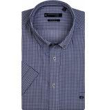 Giordano Overhemd korte mouwen geruit print button down