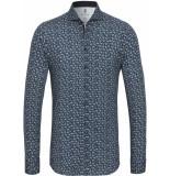 Desoto Heren overhemd bloem print cutaway jersey slim fit