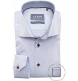 Ledûb Heren overhemd stip contrast twill widespread modern fit