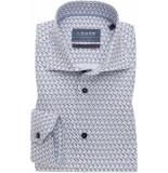Ledûb Heren overhemd widespread bruine en print slim fit