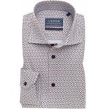 Ledûb Heren overhemd widespread midden print slim fit