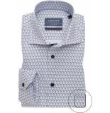 Ledûb Heren overhemd widespread donker print modern fit