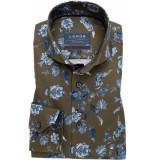 Ledûb Heren overhemd herringbone cutaway bloem print modern fit