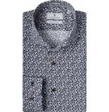 Thomas Maine Overhemd bloemprint cutaway tailored fit