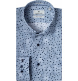 Thomas Maine Overhemd licht all-over print cutaway tailored fit