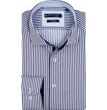 Giordano Overhemd navy brede strepen button down regular fit