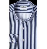 Thomas Maine Heren overhemd met blauwe strepen kent tailored fit