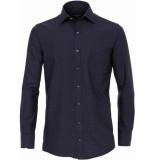 Casamoda Heren overhemd blauw stippen kent oxford comfort fit