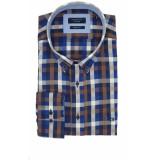 Giordano Heren overhemd kennedy blauw ruit twill button-down regular fit