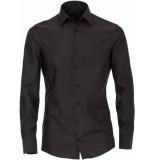 Venti Heren overhemd donkergrijs poplin non iron modern fit