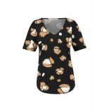 Studio Anneloes Racy flower ss shirt 04927