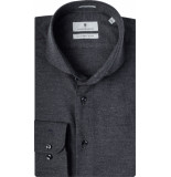 Thomas Maine Overhemd donker cutaway tailored fit