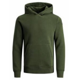 Jack & Jones 12163134 sweater hooded rosin green -