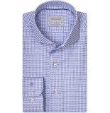 Thomas Maine Heren overhemd pied de poule cutaway tailored fit