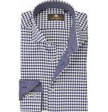 Circle of Gentlemen Overhemd casper ruit twill cutaway slim fit