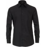 Venti Heren overhemd donker poplin non iron modern fit