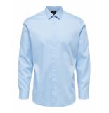 Selected Homme Heren overhemd licht kent dobby regular fit